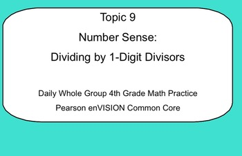 4th Grade Math: Topic 9 Guided Practice (Pearson enVISION