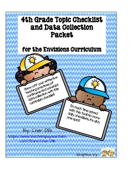 4th Grade Math Topic Checklist for the Envisions Curriculum