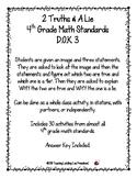 """30 Different 4th Grade Math Topics """"2 Truths & a Lie""""  DOK 3"""