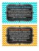 4th Grade Math Tub Labels (with Common Core Standards) - Chevron & Chalkboard!