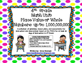 4th Grade Math Unit 1: Whole Number Place Value TEKS Instruction & Intervention