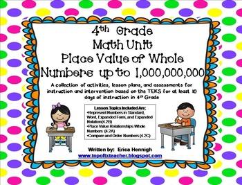 4th Grade Math Unit 1: Whole Number Place Value TEKS Instr