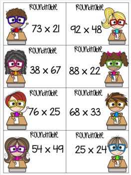 4th Grade Math Unit - 2 Digit Multiplication - Everything But the Dice