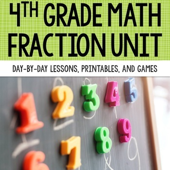 4th Grade Math Unit 5 - Fractions {compare, equivalent, add/subtract, multiply}