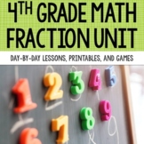 4th Grade Fraction Unit | Compare, Equivalent, Add/Subtract, Multiply | Digital