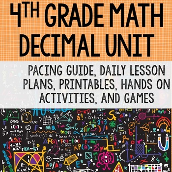 4th Grade Math Unit 6 - Decimals {Compare, Model, Relate to Fractions}