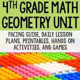 4th Grade Math Unit 7 - Geometry {angles, symmetry, lines, quadrilaterals}