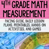 4th Grade - Measurement {angles, area, perimeter, line plots} Distance Learning