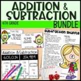 4th Grade Math Unit - Addition and Subtraction - Everything But the Dice