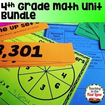 4th Grade Math Unit GROWING Bundle
