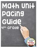 4th Grade Math Unit Pacing Guide {FREE}