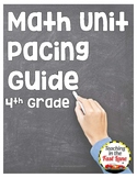 4th Grade Math Unit Pacing Guide {FREE}