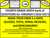 4th Grade Math Virginia SOL Questions for Spiral Review, Tests, and 5 a Days
