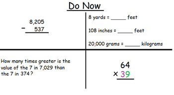 4th Grade Math Visual Lesson Plan: FREE SAMPLE of FULL LESSON FILE (4.G.A.2)