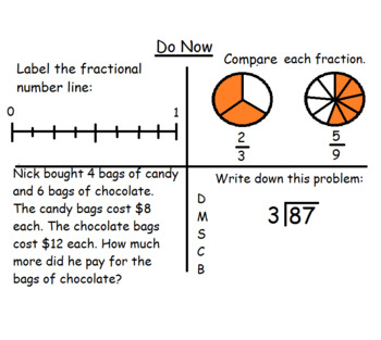 4th Grade Math Visual Lesson Plans: Do Now Super Pack