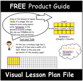 4th Grade Math Visual Lesson Plans: FREE PRODUCT GUIDE for