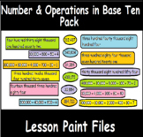 4th Grade Math Visual Lesson Plans: Number & Operations in