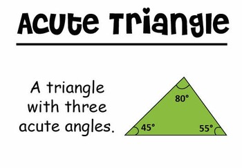 4th Grade Math Vocabulary Cards: Two-Dimensional Figures (Large)