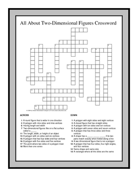 image relating to 4th Grade Crossword Puzzles Printable titled 4th Quality Math Vocabulary Crossword Puzzles