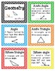 4th Grade Math Vocabulary Flash cards/Study cards