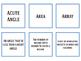 4th Grade Math Vocabulary Memory