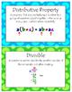 81 Fourth Grade Math Vocabulary Word Wall Display Cards