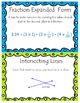 81 Fourth Grade Math Vocabulary Word Wall Display Cards