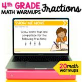 Fractions Math Talk Warm Ups