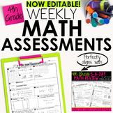 4th Grade Math Weekly Assessments Math Quizzes