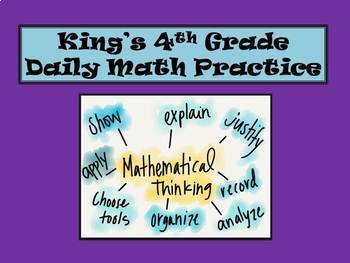 4th Grade Daily Math