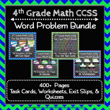 4th Grade Math Word Problem Bundle: 4th Grade Math Review, Word Problems Bundle