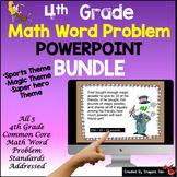 4th Grade Math Word Problem PowerPoint Kit