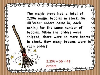 4th Grade Math Word Problem PowerPoint Kit