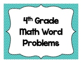 4th Grade Math Word Problems-Common Core Alligned