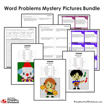 4th Grade Math Word Problems - Mystery Pictures With 4th Grade Word Problems