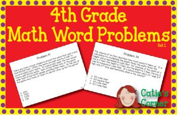 4th Grade Math Word Problems Set 1