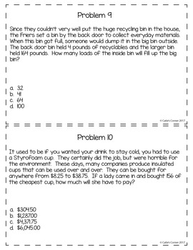 4th Grade Math Word Problems Set 4