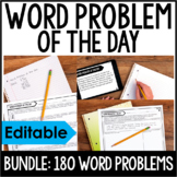 4th Grade Math Word Problems   Word Problem of the Day BUNDLE