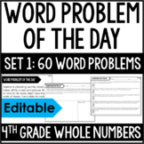 4th Grade Math Word Problems | Word Problem of the Day {Set 1}