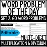 4th Grade Math Word Problems | Word Problem of the Day {Set 2}