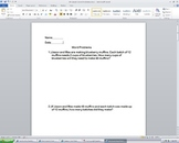 4th Grade Math Word Problems Worksheet