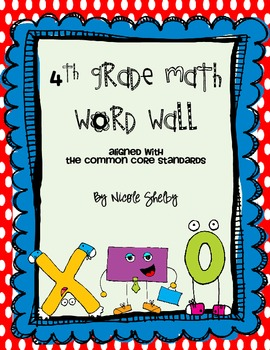 4th Grade Math Word Wall