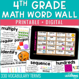 Math Word Wall | 4th Grade