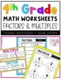 4th Grade Math Worksheets- Factors and Multiples