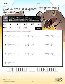 4th Grade Math Worksheets – Fourth Grade Math Pack 2 - Math Riddles - CCSS