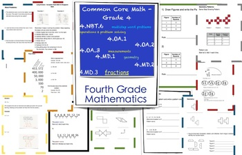 4th grade math worksheets singapore math common core by mrs lena. Black Bedroom Furniture Sets. Home Design Ideas