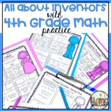 4th Grade Math Worksheets with Inventors Printable Distanc