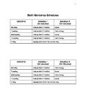 4th Grade Math Workshop Schedules