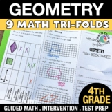 4th Grade Geometry Practice or Assessments - 4.G.1 - 4.G.3