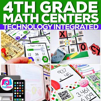 4th Grade Math Centers | Technology Integrated | MEGA BUNDLE